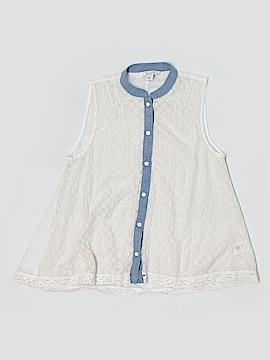 Adam Levine Sleeveless Button-Down Shirt Size M