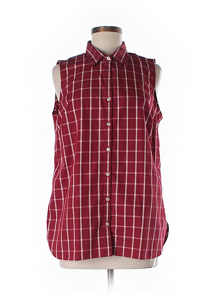 Lands 39 end sleeveless button down shirt 70 off only on for Sleeveless cotton button down shirts