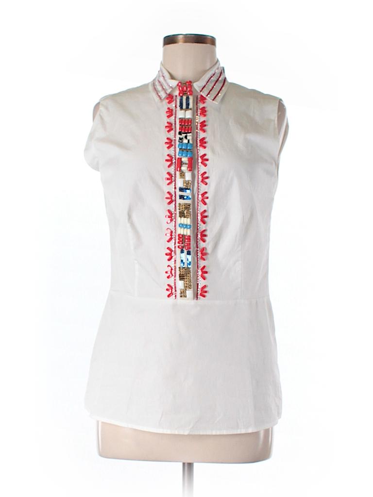 Tory burch sleeveless button down shirt 73 off only on for Sleeveless cotton button down shirts