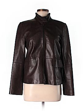 Linda Allard Ellen Tracy Leather Jacket Size 4