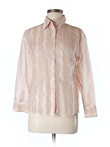 Gucci Women Long Sleeve Silk Top Size 42 (IT)