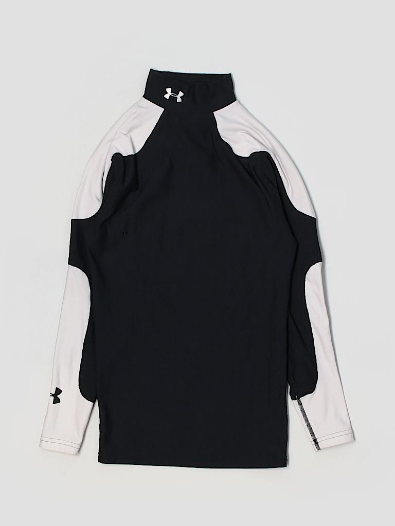 Under Armour Color Block Black Active T Shirt Size S