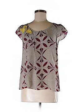Floreat Short Sleeve Silk Top Size 4