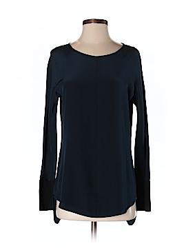 David Lerner Long Sleeve Silk Top Size S