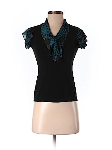 Style&Co Women Short Sleeve Silk Top Size P