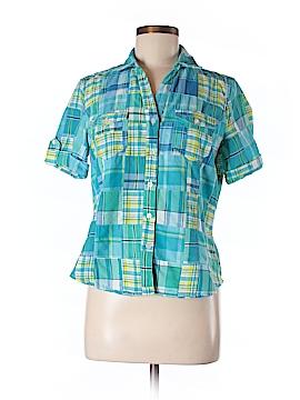 Jones New York Sport Short Sleeve Button-Down Shirt Size M (Petite)