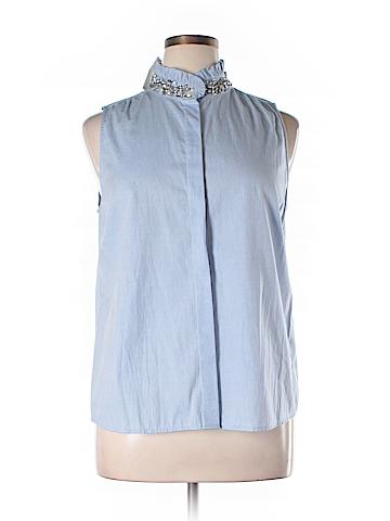 J. Crew Sleeveless Button-Down Shirt Size 16