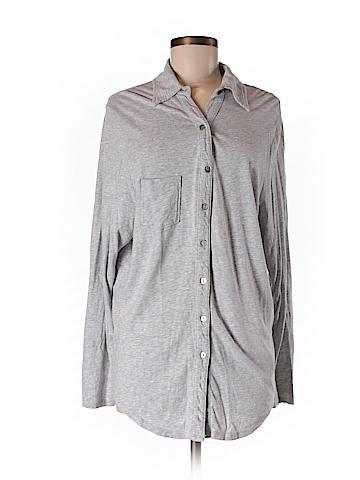 Michael Stars Women Long Sleeve Button-Down Shirt One Size