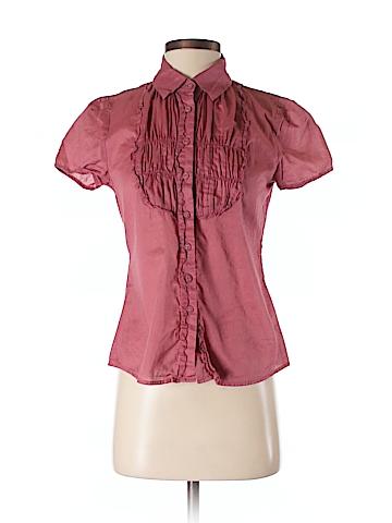 Banana Republic Factory Store Women Short Sleeve Button-Down Shirt Size S