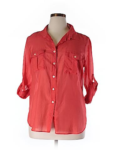 J. Crew 3/4 Sleeve Button-Down Shirt Size XL