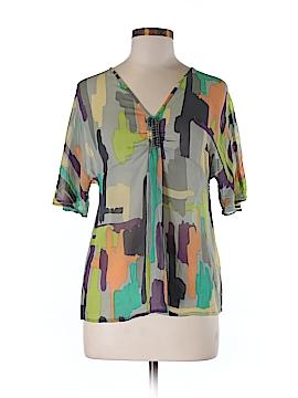Antik Batik Short Sleeve Silk Top Size M