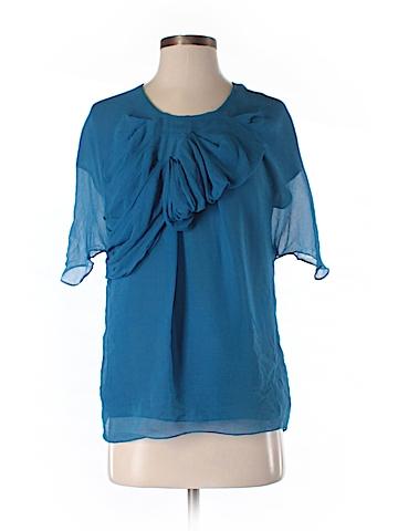 Ports 1961 Short Sleeve Silk Top Size 6