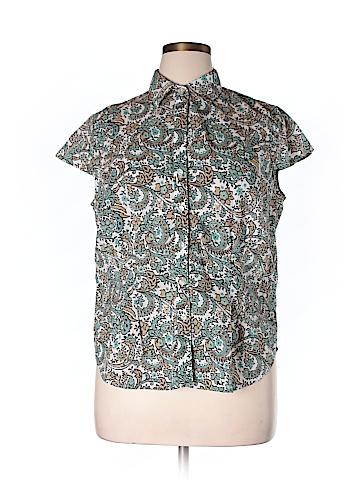 Jones New York Signature Short Sleeve Button-Down Shirt Size 1X (Plus)