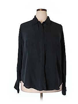 Venezia Long Sleeve Silk Top Size 20 (Plus)