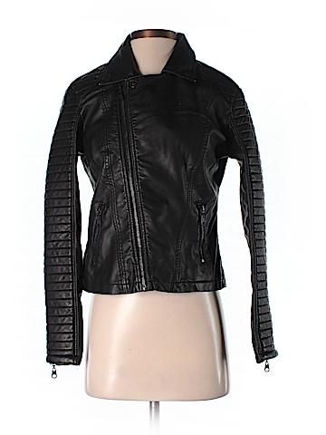 Billabong Faux Leather Jacket Size S