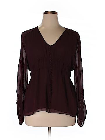 MICHAEL Michael Kors Long Sleeve Silk Top Size XL