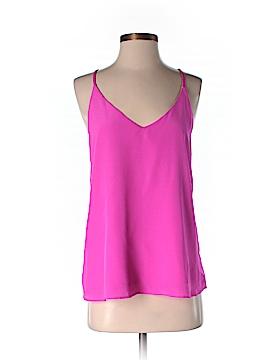 Lavender Brown Sleeveless Silk Top Size XS