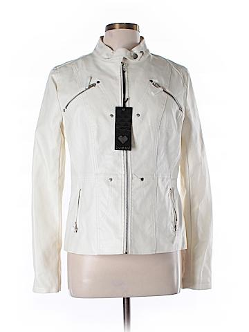 Brave Soul Faux Leather Jacket Size L