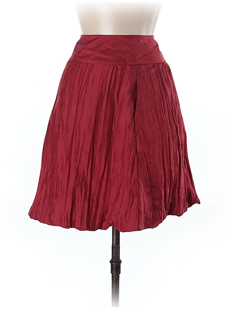 eb1ab8f056 Banana Republic 100% Silk Solid Red Silk Skirt Size 8 - 81% off ...
