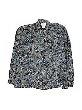 Tess Long Sleeve Silk Top Size 12