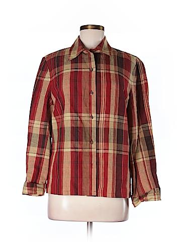 Evan Picone Women Long Sleeve Blouse Size M