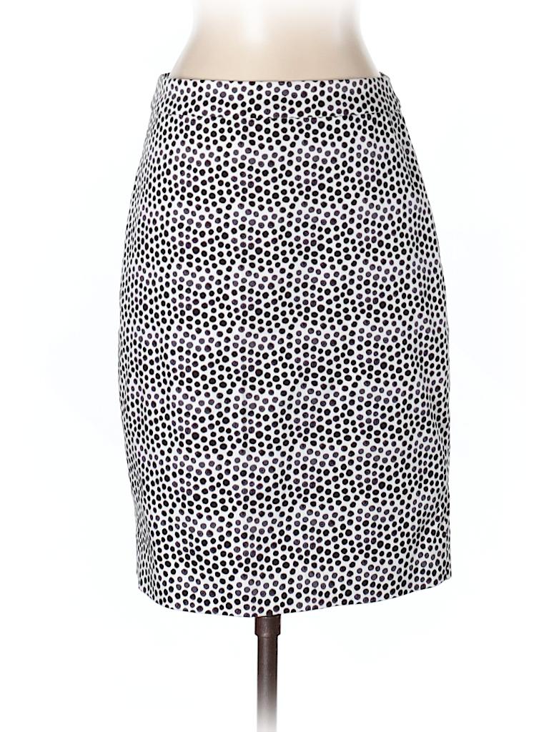 31dd57d490 J. Crew Factory Store Print Dark Purple Casual Skirt Size 0 - 72 ...
