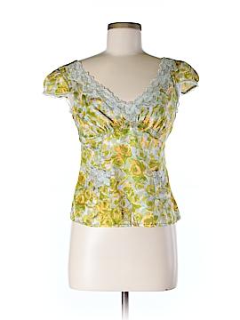 Nanette Lepore Short Sleeve Silk Top Size 6