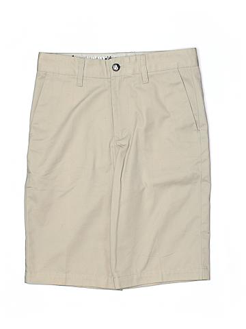 Volcom Women Khaki Shorts 27 Waist