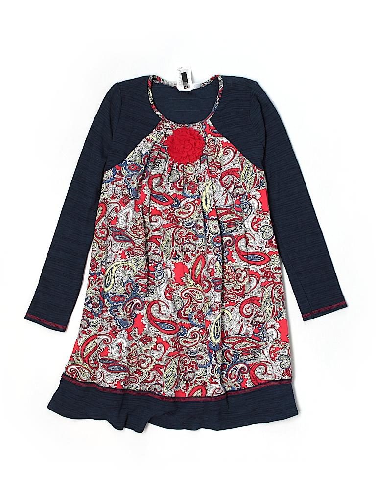 965e3631f35 Bonnie Jean Paisley Dark Blue Dress Size 14 - 60% off