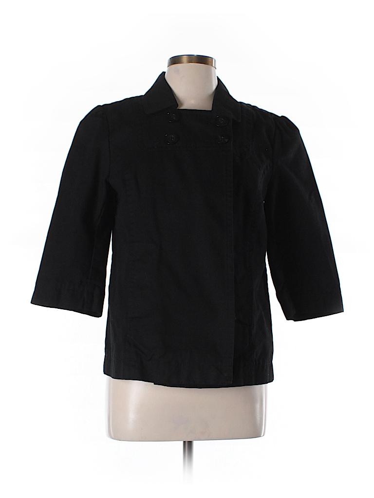 Old navy 100 cotton solid black denim jacket size l 50 for Denim shirt women old navy