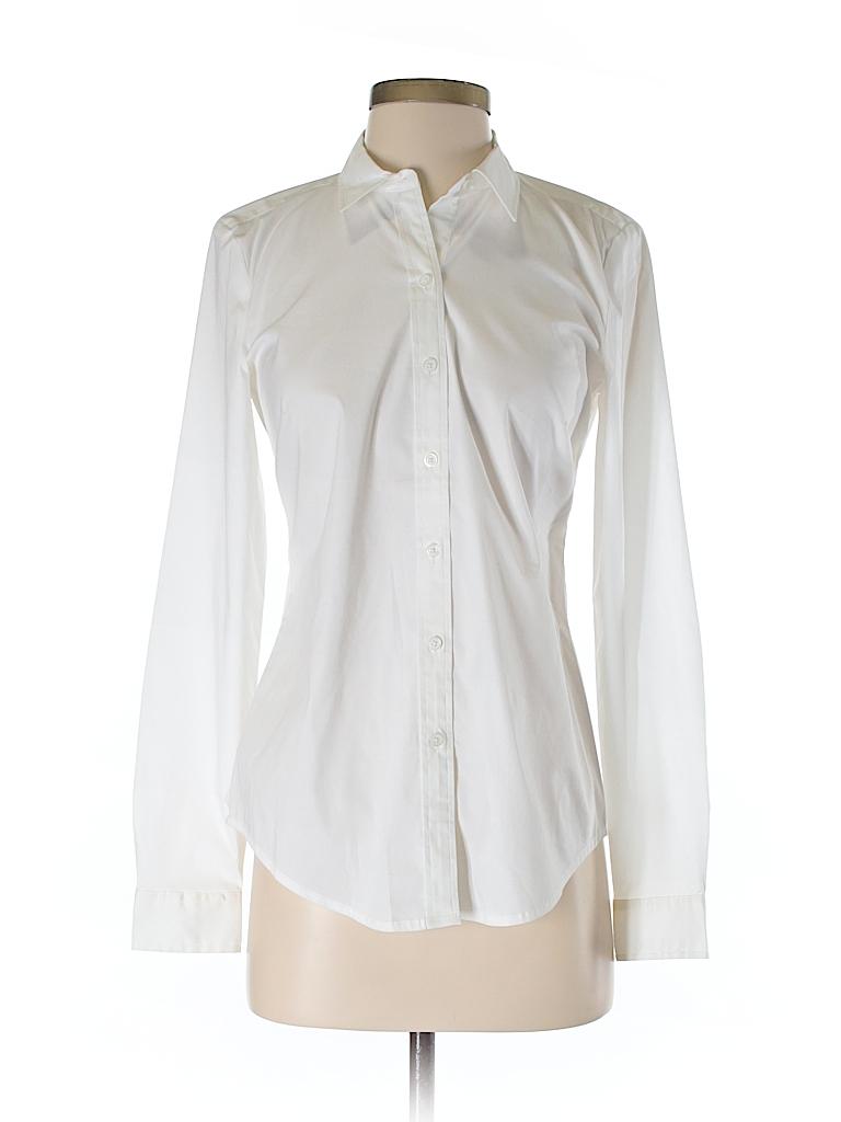Ann Taylor LOFT Women Long Sleeve Button-Down Shirt Size 2