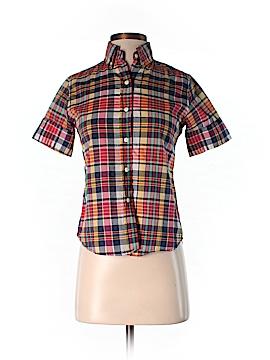 Steven Alan Short Sleeve Button-Down Shirt Size P