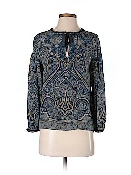 Massimo Dutti Long Sleeve Silk Top Size XS
