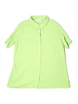 D&Co. Short Sleeve Button-Down Shirt Size 1X (Plus)