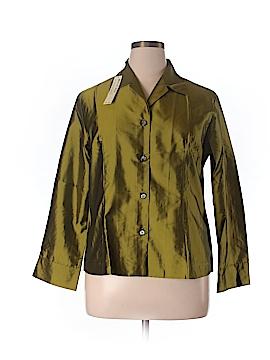 Silk Box Long Sleeve Silk Top Size 14