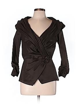 Tadashi Shoji 3/4 Sleeve Button-Down Shirt Size 12