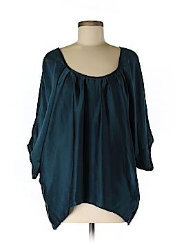 Chelsea Flower Short Sleeve Silk Top Size M