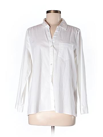 J.jill 3/4 Sleeve Button-Down Shirt Size M (Petite)
