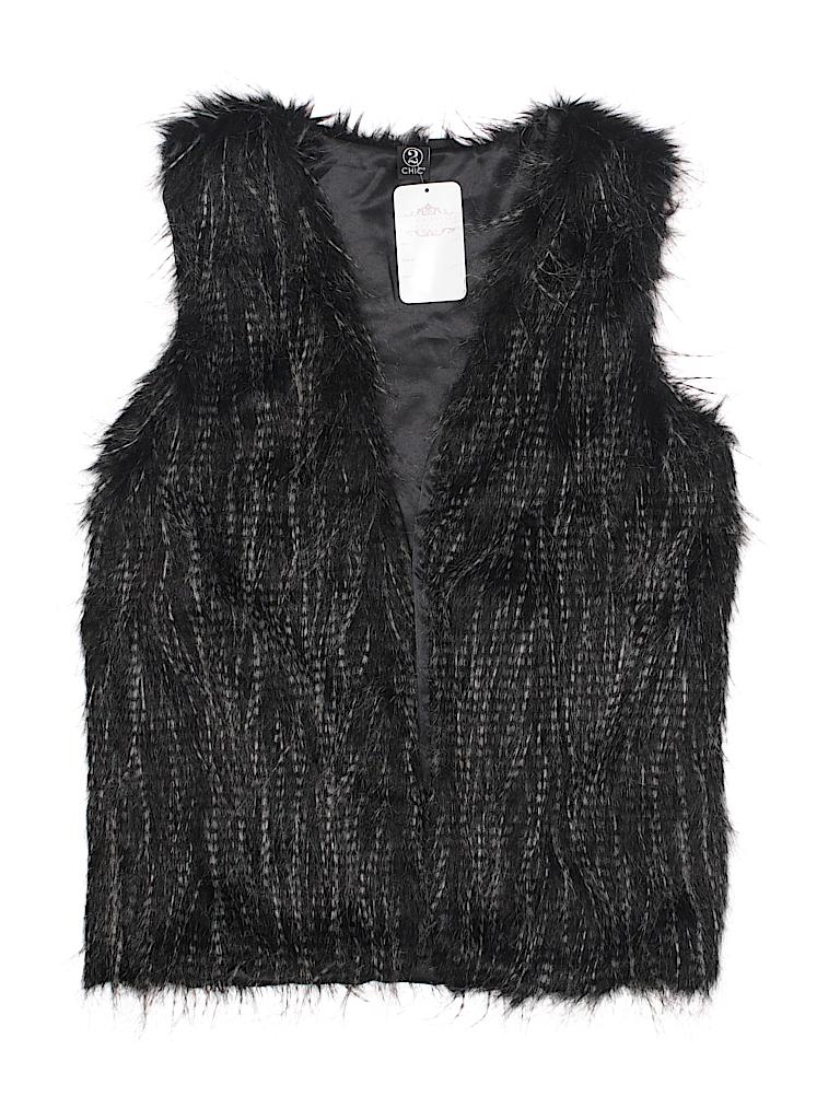 2 Chic Women Faux Fur Vest Size Med - Lg