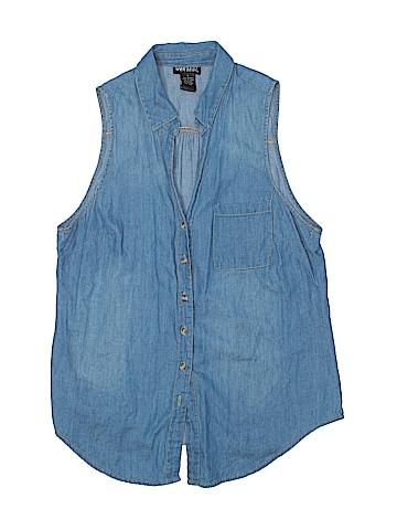 Wet Seal Sleeveless Button-Down Shirt Size L