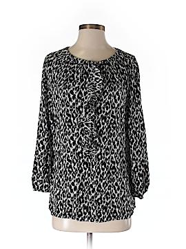 Elie Tahari for Nordstrom 3/4 Sleeve Silk Top Size 0