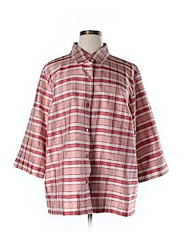 Josephine Chaus 3/4 Sleeve Silk Top Size 22 (Plus)