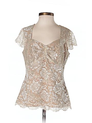Ann Taylor LOFT Women Short Sleeve Blouse Size 4 (Petite)