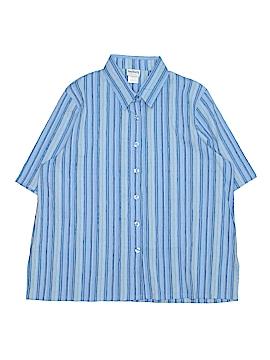 BonWorth Short Sleeve Button-Down Shirt Size L