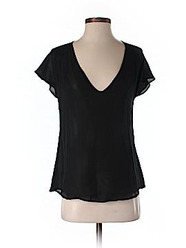 Rachel Mara Short Sleeve Silk Top Size XS