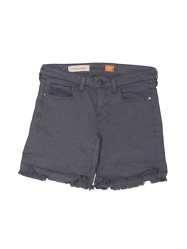 36b926b78dd Pilcro and The Letterpress Solid Gray Denim Shorts 26 Waist - 90 ...