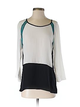 Waverly Grey 3/4 Sleeve Silk Top Size S