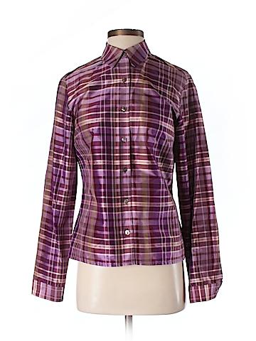 Ann Taylor Long Sleeve Silk Top Size 4