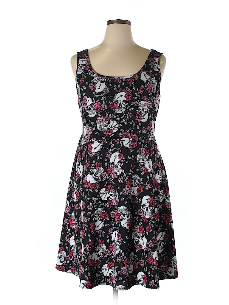 f0377176ba7 Torrid Print Black Casual Dress Size 1X (Plus) - 73% off