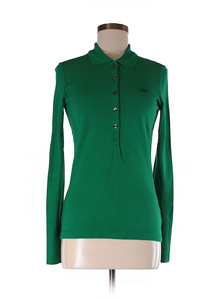 lacoste solid green long sleeve polo size 38 eu 80 off thredup. Black Bedroom Furniture Sets. Home Design Ideas